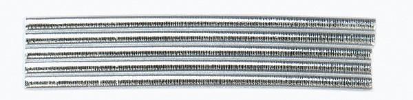 Wachsrundstreifen, 4mm, 20cm, 5 Stk., silber