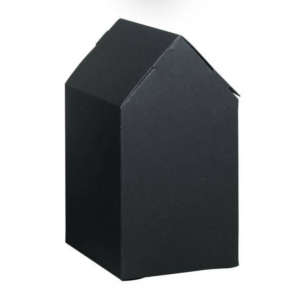 Faltschachtel Haus 10x7,5x20cm, Set 3 Stück, schwarz