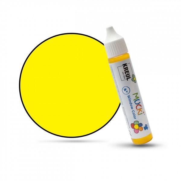 Mucki Window Color Pen, Fenstermalfarbe, 29 ml, gelb
