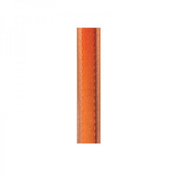 Satinband mit Chiffonkante, 10mm, - orange
