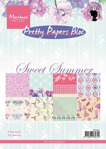 Marianne Design - Papierblock Sweet Summer
