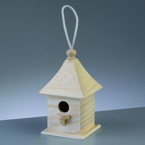 Holz-Vogelhaus Quadrat