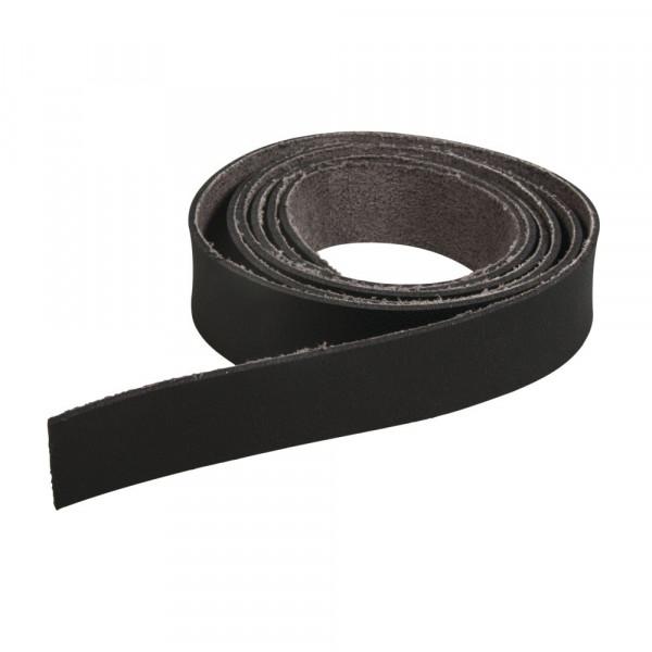 Kunstlederband flach 138x2cm, schwarz