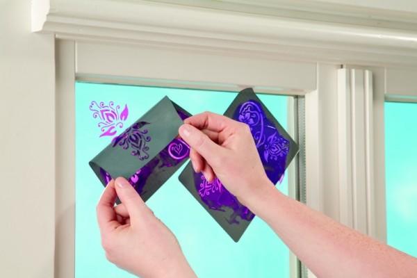 """window style designschablone """"sonne mond und sterne"""" din"""