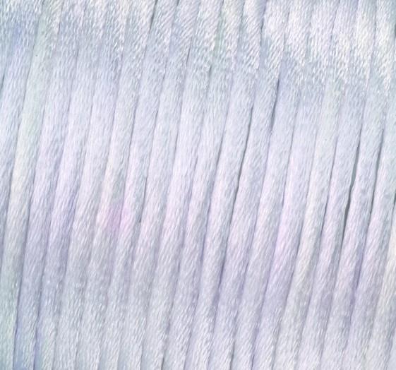 Satin Flechtkordel, Länge 6 m, Stärke 2 mm, weiß