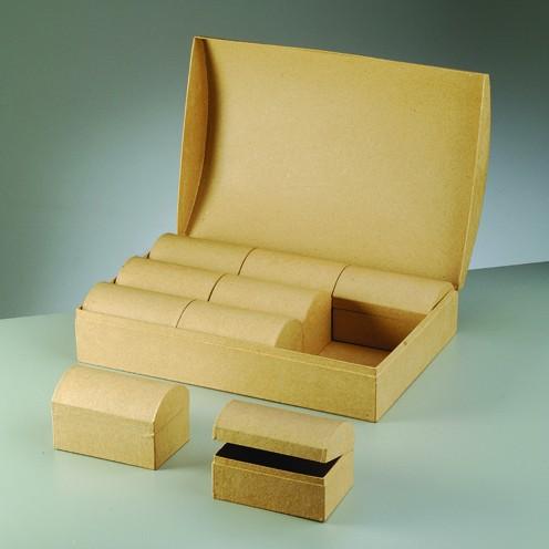 Boxen-Set Schatztruhe, 37,5 x 25 x 11 cm, 10-teilig