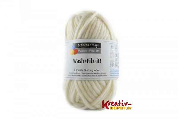Schachenmayr Filzwolle - Wash+Filz-it! - weiß