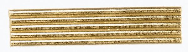 Wachsrundstreifen, 4mm, 20cm, 5 Stk., gold