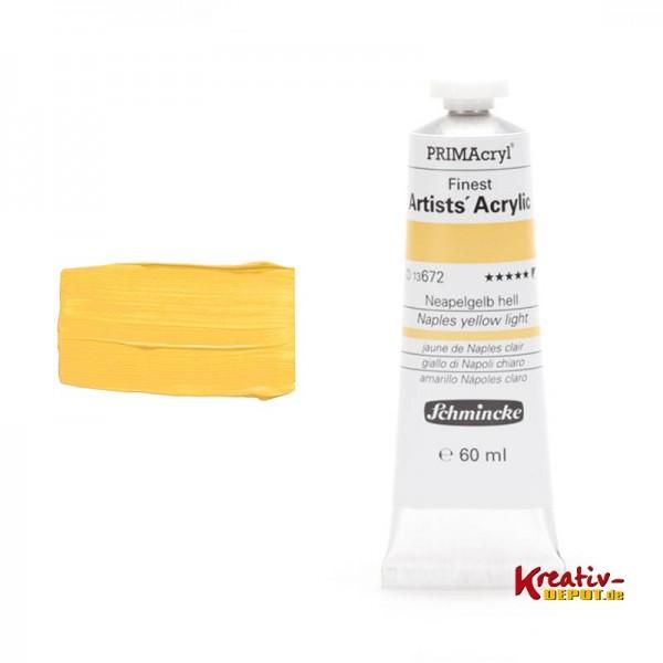 PRIMAcryl®, Finest Artists` Acrylic, 60 ml, Neapelgelb hell