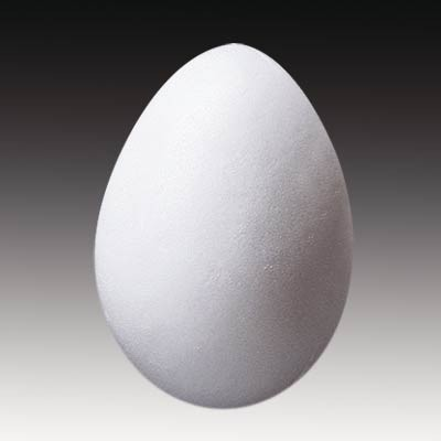 Styropor-Ei, 10 x 7 cm