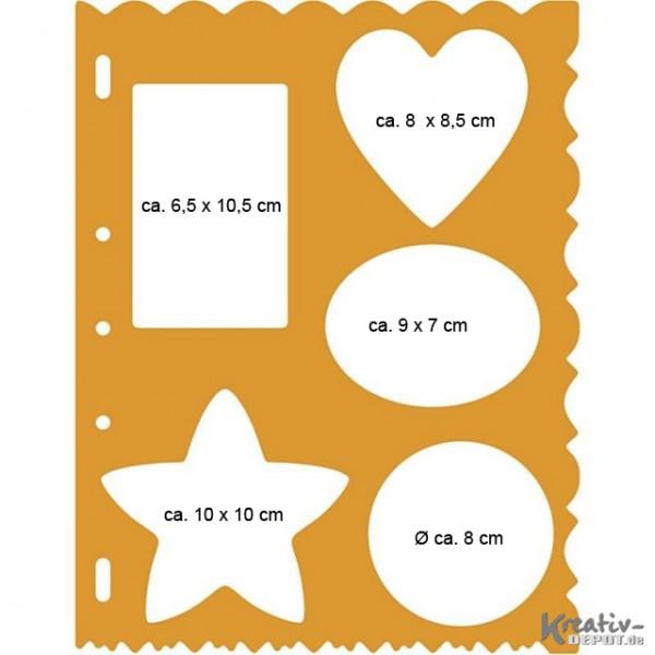 Schablone für Shape Cutter, 27,9 x 22,6 x 0,3 cm Formen