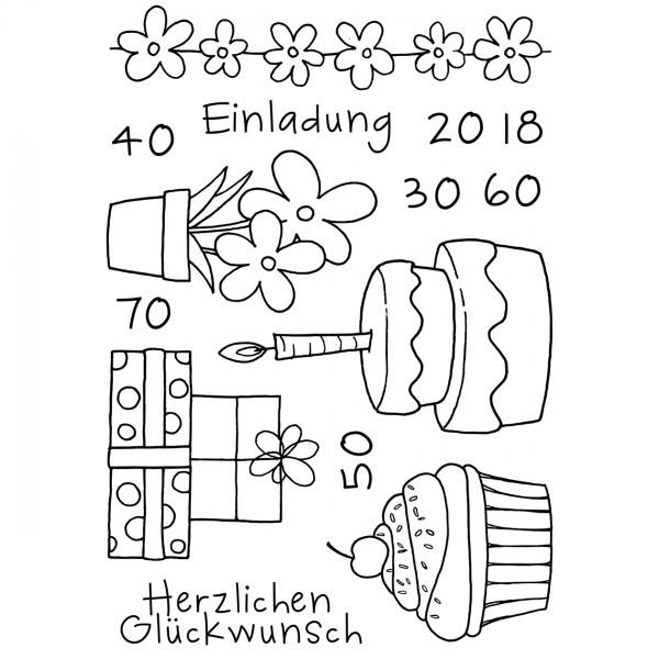 Clear Stamps - Einladung