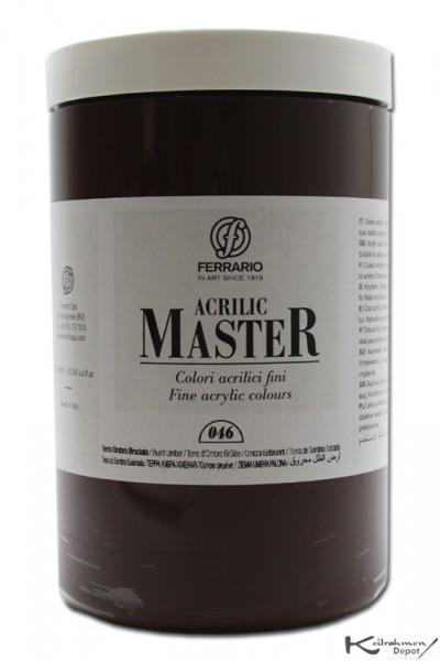 Ferrario Acrilic Master Acrylfarbe, 1000 ml, Umbra gebrannt