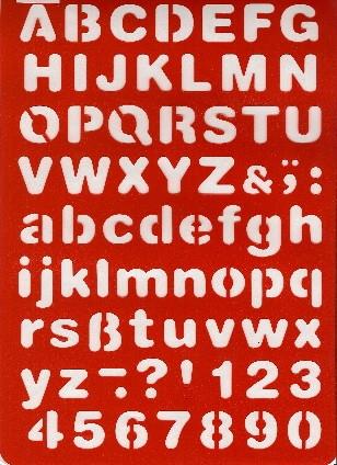Buchstaben-Schablone ABC Druckschrift
