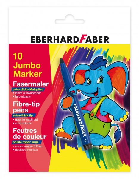 EBERHARD FABER Jumbo Marker, 10 Farben