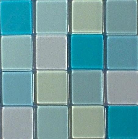 Mosaic Acryl, 1 x 1 cm, ca. 50 g, transparent, lagune