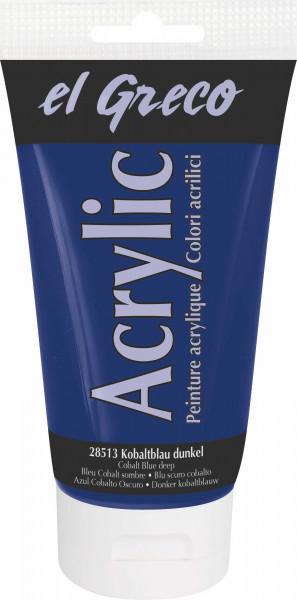 Acrylfarbe el Greco Acrylic, 150 ml - Kobaltblau dunkel