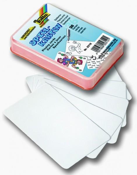 Spielkarten, unbedruckt, weiß, 36 Stück