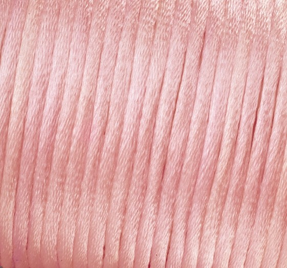 Satin Flechtkordel, Länge 50 m, Stärke 2 mm, rosa