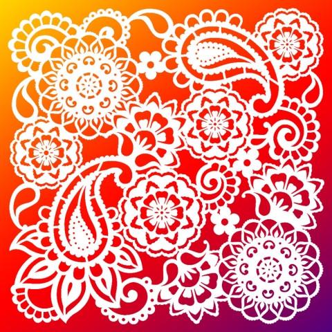 Viva Decor Hintergrund-Schablone Paisley, 29 x 29 cm