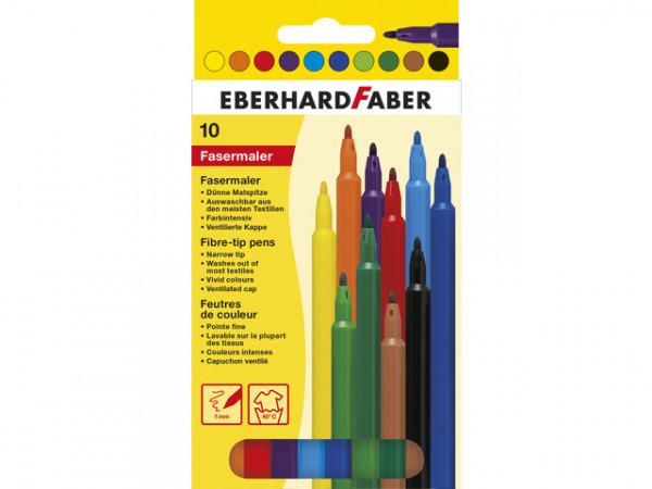 Eberhard Faber Fasermaler, 10er Kartonetui