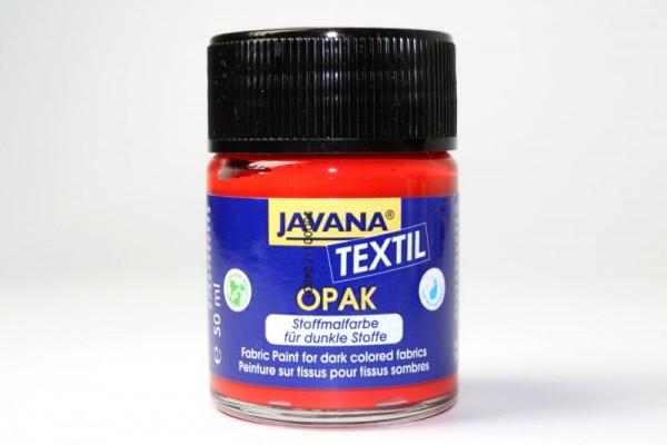 JAVANA TEXTIL Opak, für dunkle Stoffe, 50 ml, Rot