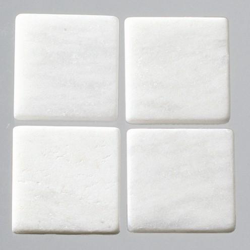 Efco Mosaik Echtstein pur, 20 x 20 mm, weiß Marmor