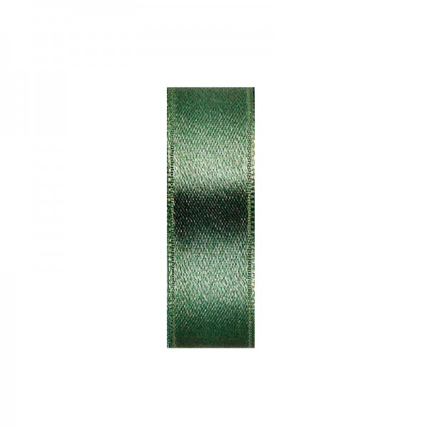 Satinband, doppelseitig, Länge 5 m, Breite 40 mm, moosgrün