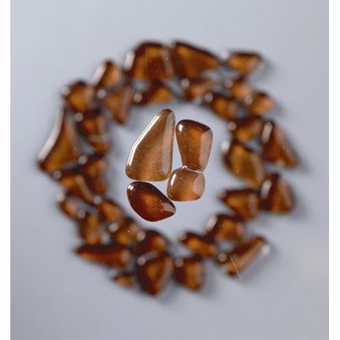 Mosaik Glasstein soft, 8-25 mm, braun