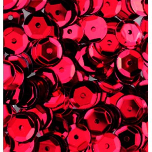 Pailletten, rund, gewölbt, 6 mm, 4000 St, rot