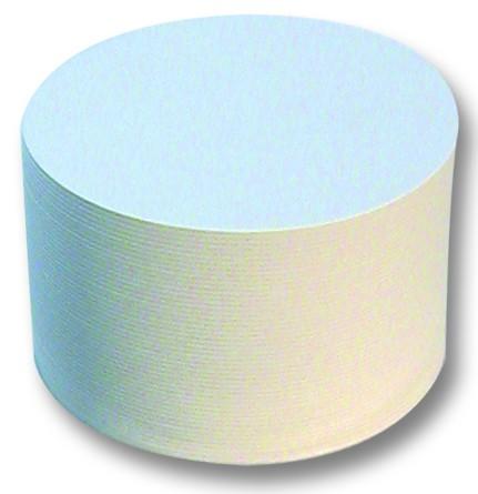 Bierfilze/Bierdeckel rund, unbedruckt, weiß, Ø 10,7 cm, 100 St.