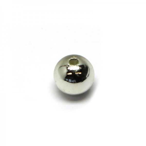 Wachsperlen 4 mm - silber, 80 Stk.