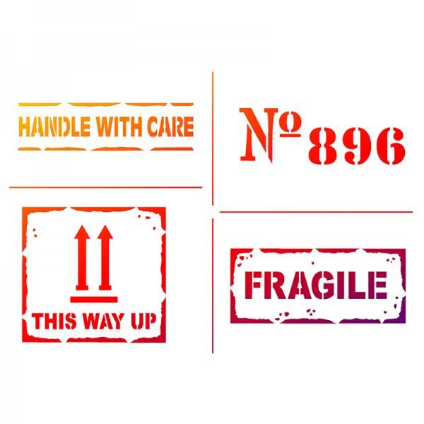 Viva Decor Universal-Schablone, DIN A4, Fragile