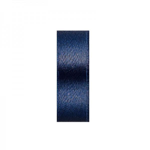 Satinband, doppelseitig, Länge 10 m, Breite 10 mm, dunkelblau