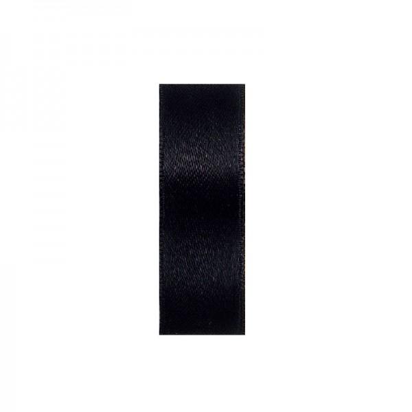 Satinband, doppelseitig, Länge 5 m, Breite 25 mm, schwarz