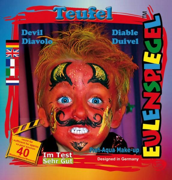 Eulenspiegel Schminkfarbe Motiv-Set Teufel, 4 Farben