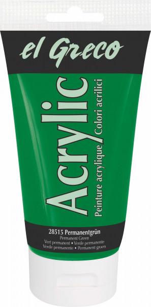 Acrylfarbe el Greco Acrylic, 150 ml - Permanentgrün