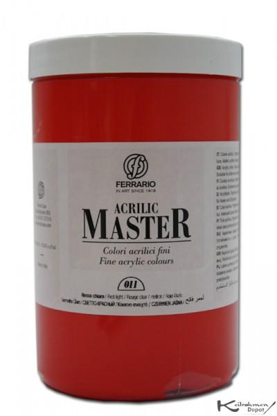 Ferrario Acrilic Master Acrylfarbe, 1000 ml, Hellrot