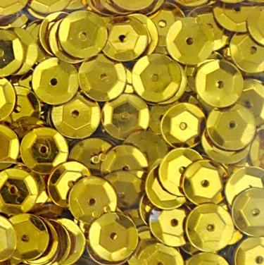 Pailletten, rund, gewölbt, 6 mm, 1400 St, gold