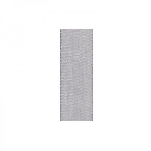 Chiffonband, 6mm breit, 10m lang - silber