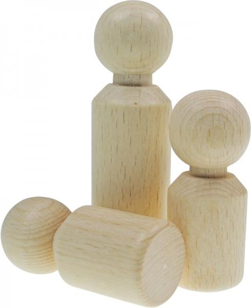 Figuren-Kegel Mann, aus Holz, 65 x 21 mm