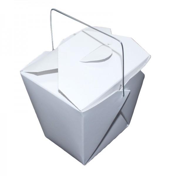 24 x Faltbox mit Metall-Henkel, weiß