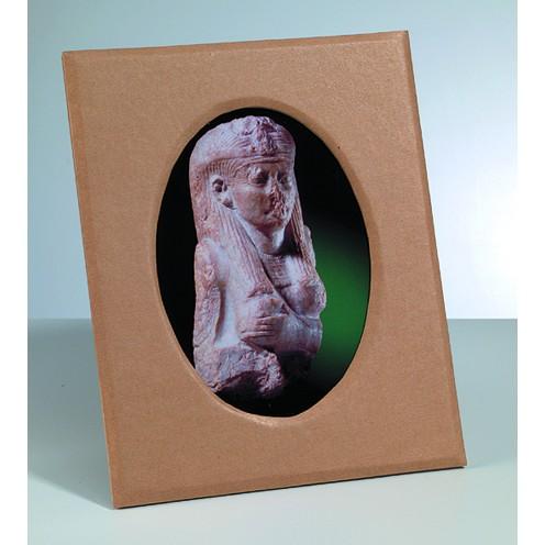 Bilderrahmen, aus Pappmachè, ovaler Ausschnitt, 25,5 x 20,5 cm