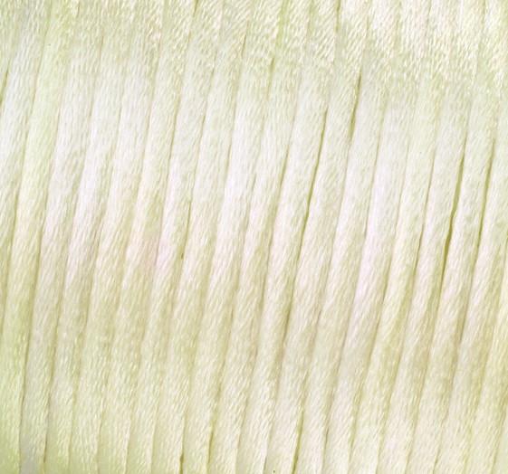 Satin Flechtkordel, Länge 50 m, Stärke 2 mm, creme