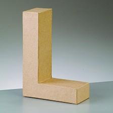 Buchstabe L, 5x2 cm, aus Pappmaché