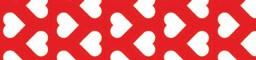 Washi-Tape, 15mm x 10m - Herzen rot