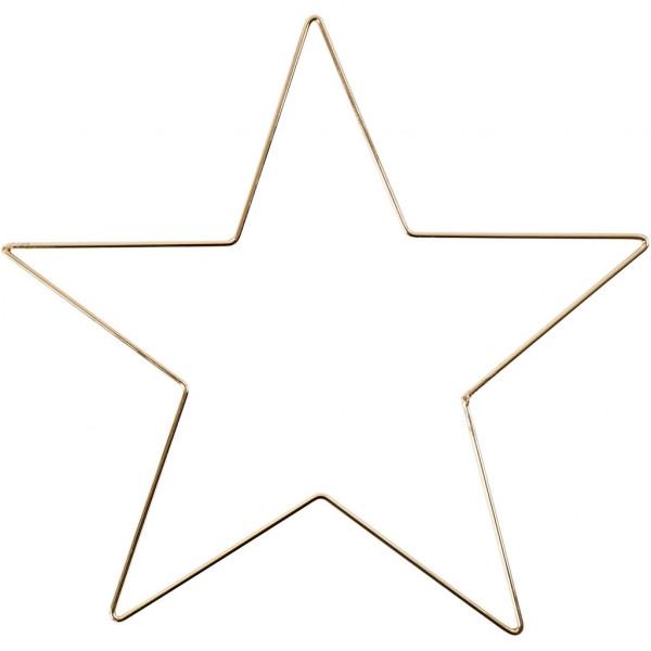 Metallstern, 30 cm, Stärke: 3 mm, Gold