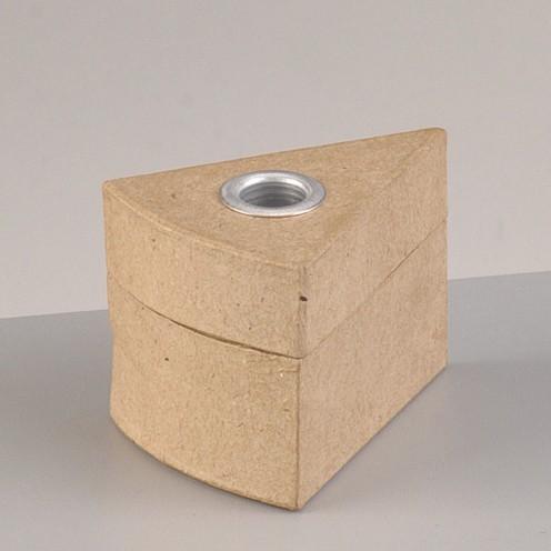 Box Tortenstück mit Alueinsatz, 8 x 6 x 5,5 cm