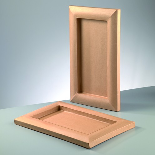 Bilderrahmen, aus Pappmachè, 26,5 x 43,5 cm / 16 x 33 cm