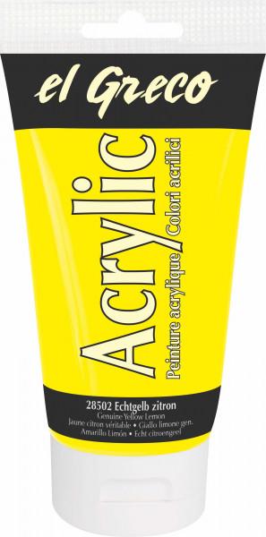 Acrylfarbe el Greco Acrylic, 150 ml - Echtgelb zitron
